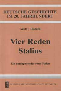 Vier Reden Stalins. Ein durchgehender roter Faden