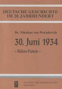 30. Juni 1934 – Röhm-Putsch